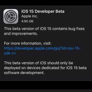 Almost never a good idea, but ….. #ios15 #beta