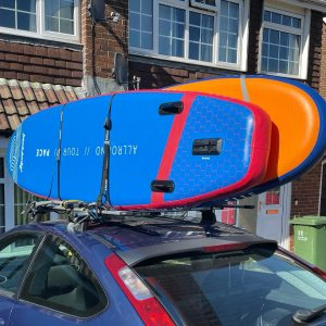 Real reason you don't go paddle boarding when it's windy - the car'll take off! 💨