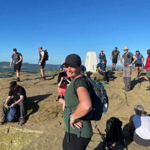 First hill done 😬 #teamluketrek